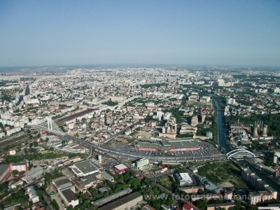 Aerial photos Basarab Bridge and Grozavesti Bridge, Bucharest