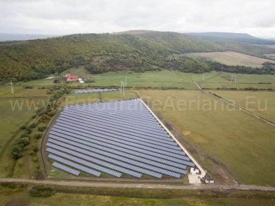 Aerial pictures at Podu Olt solar park